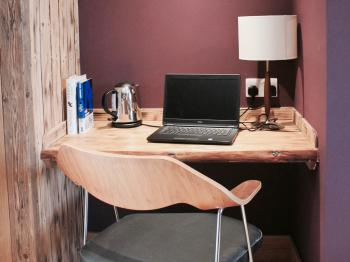 Comfortable work desk in 'The Yew' - Guest room