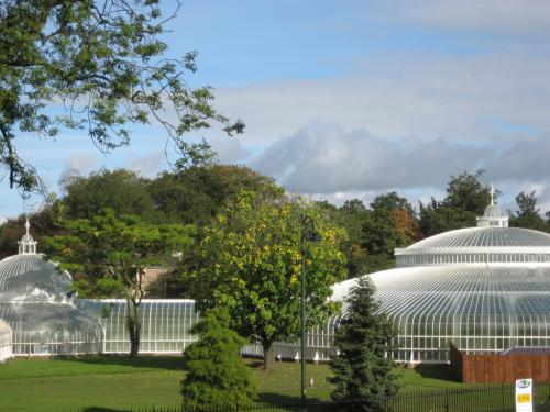 Kibble Palace,Botanic Gardens,view from back rooms of Georgian house