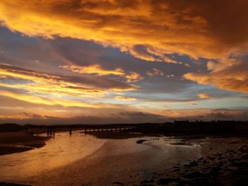 Sunrise over Lossiemouth East Beach