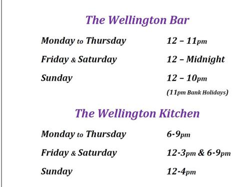 Bar & Kitchen Opening Hours