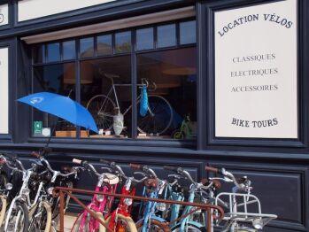 L'atelier Vélo du Village de Bages, où vous pourrez louer vos bicyclettes
