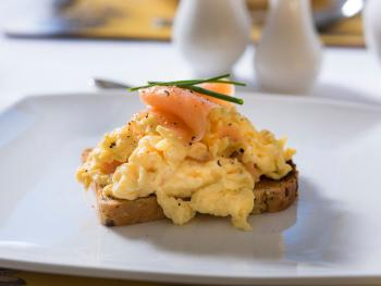 Breakfast - Smoked Salmon and Scrambled Eggs