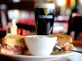 St. Brendan's Irish Pub - Reuben & Root Soup