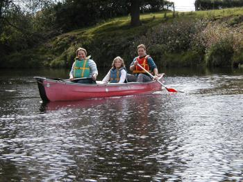 Canoeing on the River Wye