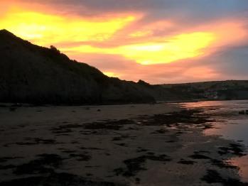 Sunset over Robin Hood's Bay