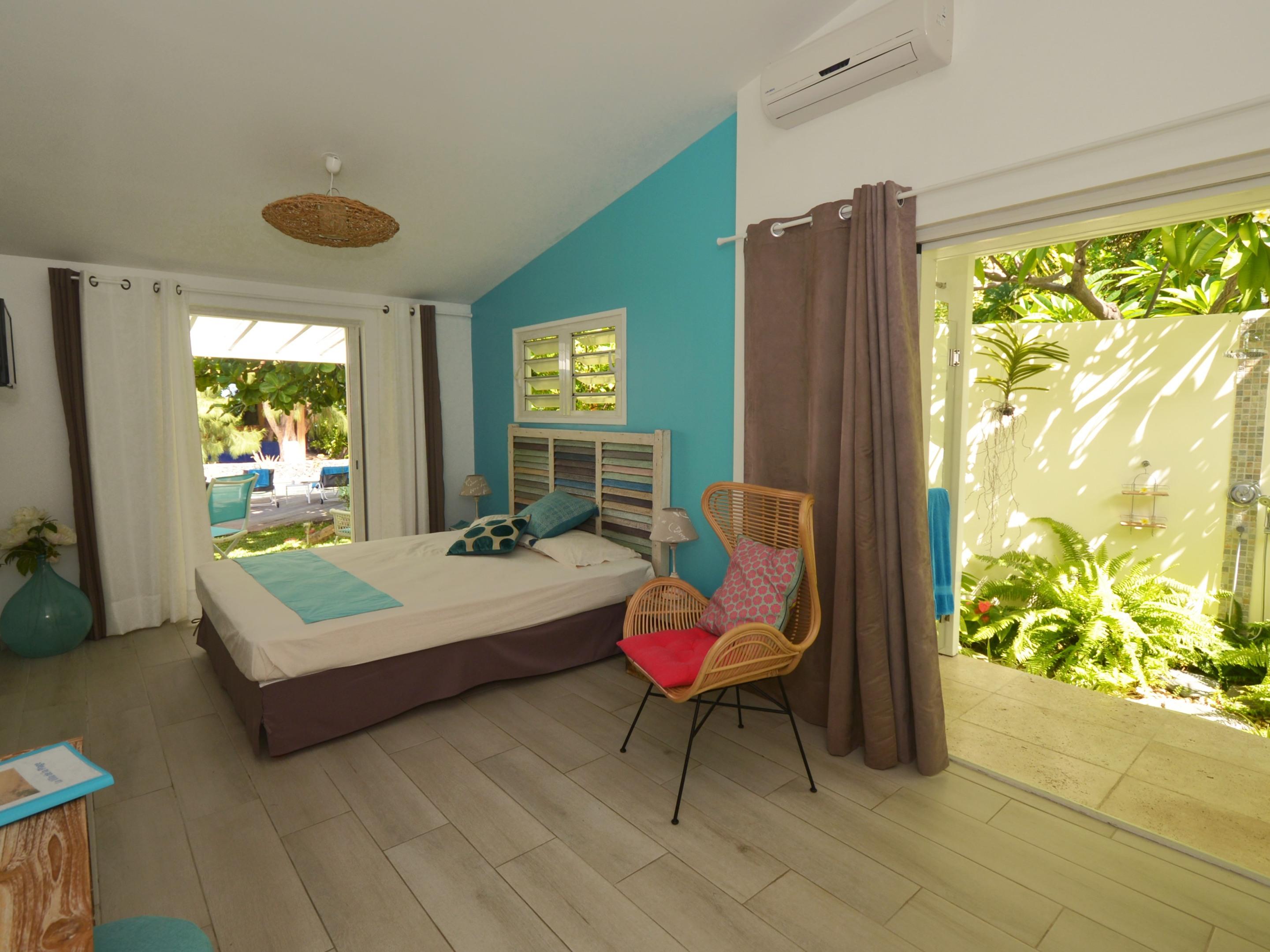 BADAMIER-Vue mer-Double-Salle de bain privée séparée
