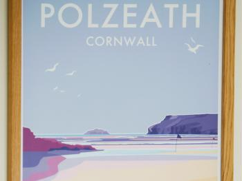 The Polzeath room is named after the super sandy beach at Polzeath just a few miles from us.