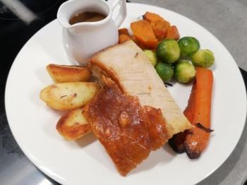 Belly Pork from the dinner menu