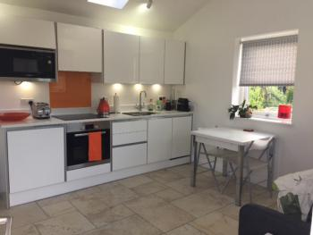 Kitchen fully equipped for self catering