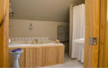 Adirondack Room Jetted Tub and separate shower