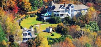 Aerial View of Innisfree Inn and Garden House