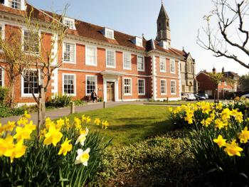 Sarum College in spring