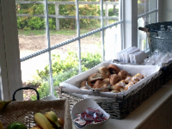 Our Continental Breakfast which is available daily from 8am-10am.  Available from Memorial Day to Columbus Day