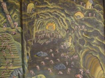 mural; inside the mine