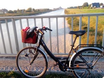 A vélo - sur le pont du Couesnon