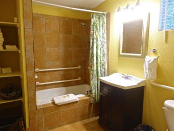 Juniper Room Bathroom with jacuzzi tub & shower