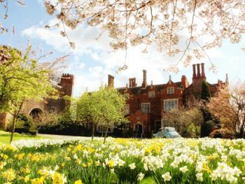 Hodsock Priory in the spring