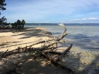 La plage du lac, à 300 m de la maison