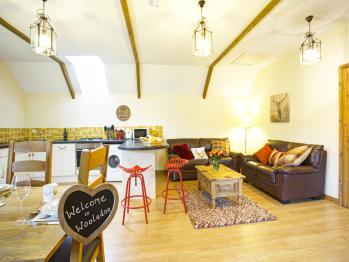 Living area in Pheasant Barn