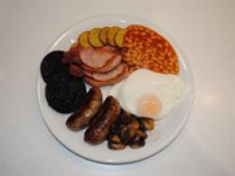 Cooked 'Lincolnshire' Breakfast