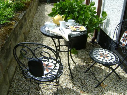 Enjoy a Welsh cake in the garden
