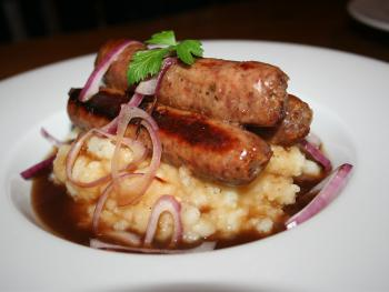 Trio of locally produced sausages