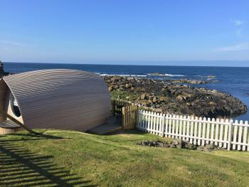 Eco Pod set in shorefront gardens