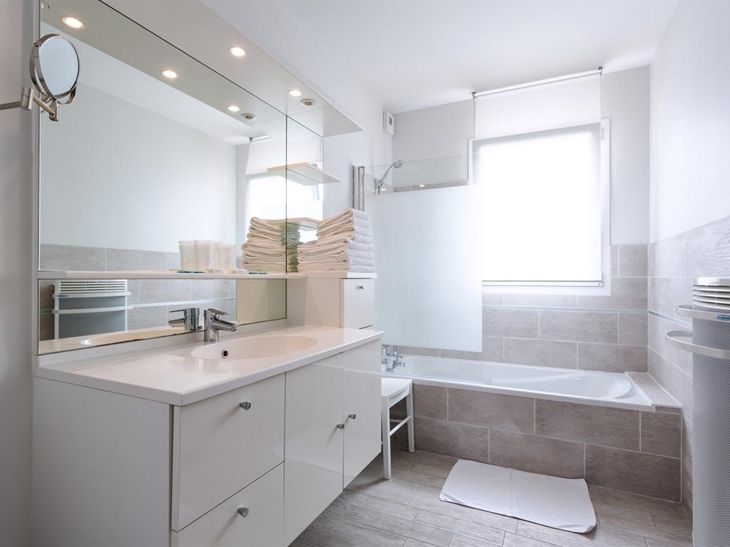 Famille-de Luxe-Salle de bain et douche-Vue sur Parc - Famille-de Luxe-Salle de bain et douche-Vue sur Parc