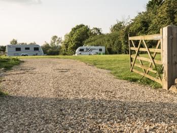 The adjacent campsite