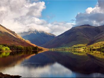 Autumn: Wastwater & Great Gable in clouds