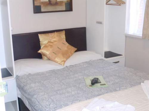 Double room with one standard double bed.
