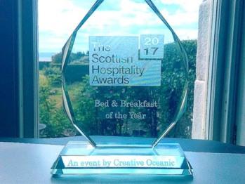 National Winner - Scottish B & B of the Year 2017