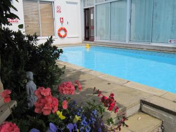 Our beautiful heated outdoor pool