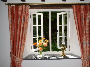 A Window in the Lounge in the Old Farmhouse