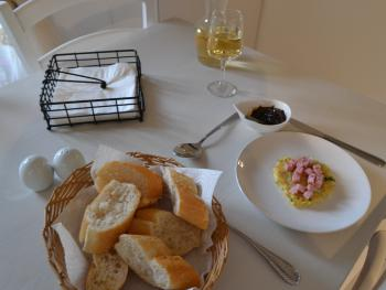 Potato Pancakes with Diced Ham and Mango Chutney - Crêpes de pommes de terre au jambon en dés et au chutney à la mangue