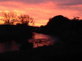 Morning Sunrise Over the River Severn