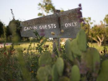 Cabin Guest Sign