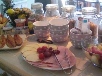 Continental style buffet breakfast