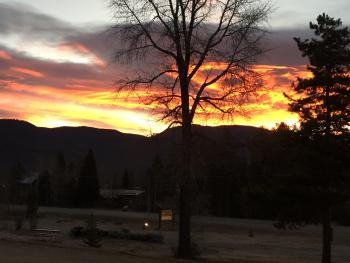 Beautiful sunrises and sunsets seen from the Black Bear Lodge