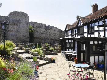 Priory Court Hotel - Front of hotel over looking Pevensey Castle