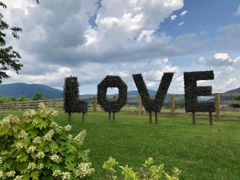 Take your photo with the Montfair Love Sign!