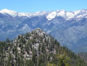 Lookout Peak and the Monarch Divide from Lookout Point