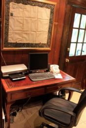 Library Desk with computer