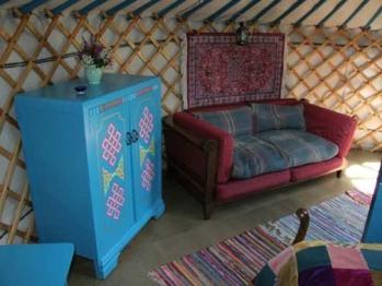 Wild Blue Yonder Yurt interior
