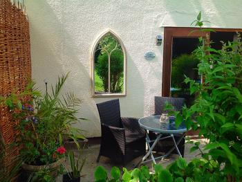 Dairy cottage patio