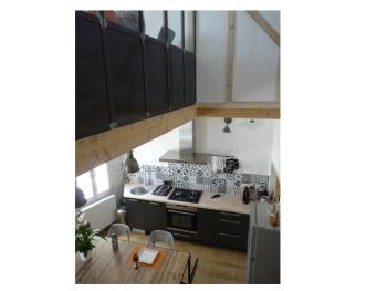 Duplex, salon et cuisine