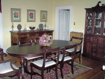 Dining Room where breakfast is served for our B&B guests