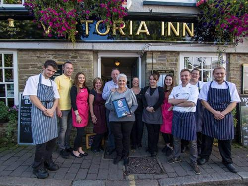 Liz & Tim and some of the great team at the Victoria Inn