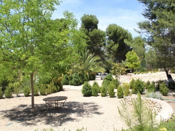 Vista jardín exterior