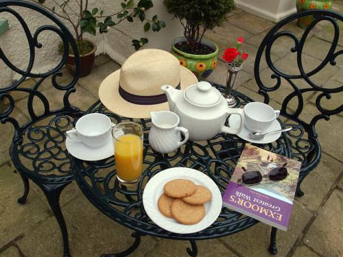 Tea on the terrace.